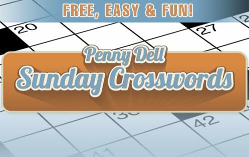 Penny Dell Sunday Crossword