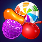 Sweet Shuffle: Mix and match colorful candies in this sweets-themed strategy game.