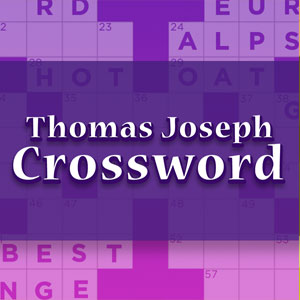Fabulous image regarding printable thomas joseph crossword puzzle for today