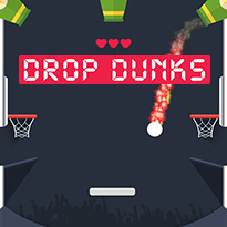 Play free online Drop Dunks