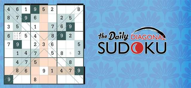 Jetzt The Daily Diagonal Sudoku spielen!
